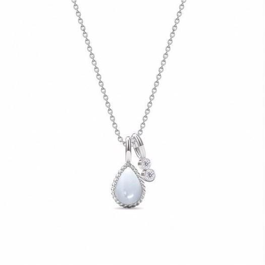 Spinning Jewelry sølv halskæde med månesten