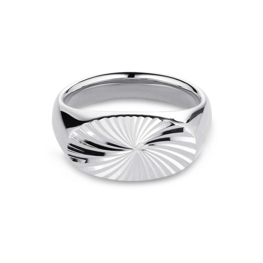 Jane Kønig - Reflection Signet ring i sølv
