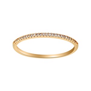 Siersbøl Heart alliancering i 14 kt guld med 0,05ct diamanter
