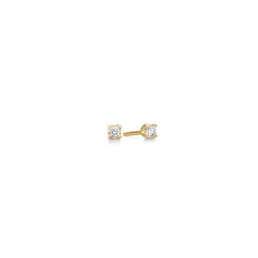 CROWN Øreringe I 14 kt. Guld med diamanter fra 0,09 ct. - 0,50 ct.