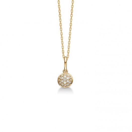 Mads Z - Dome vedhæng 14 karat guld m. ædelsten på ialt 0,10ct.
