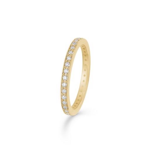 Mads Z - Poetry dot ring i 14 karat guld m. brillant