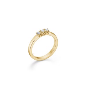 CROWN Alliance Ring I 14 kt. Guld med 3 x brillant fra 0,04 ct. - 0,09 ct.