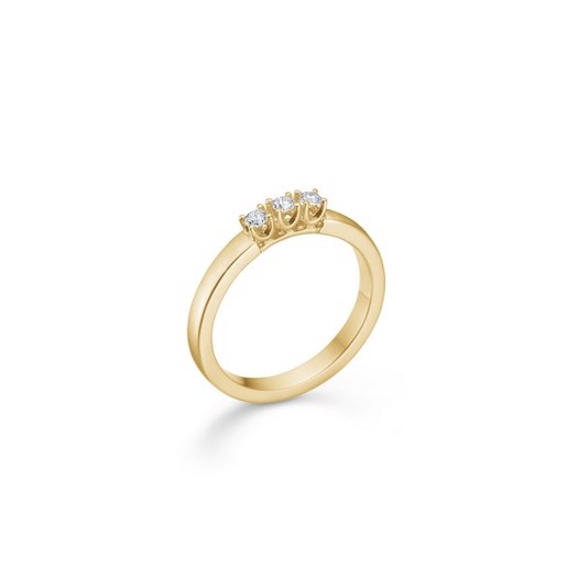 CROWN Alliance Ring I 14 kt. Guld med 3 x brilliant fra 0,04 ct. - 0,09 ct.