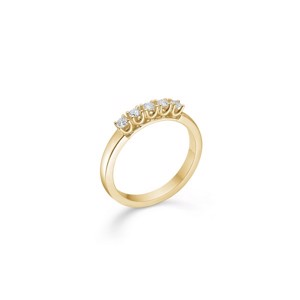 CROWN Alliance Ring I 14 kt. Guld med 5 x brilliant fra 0,04 ct. - 0,09 ct.