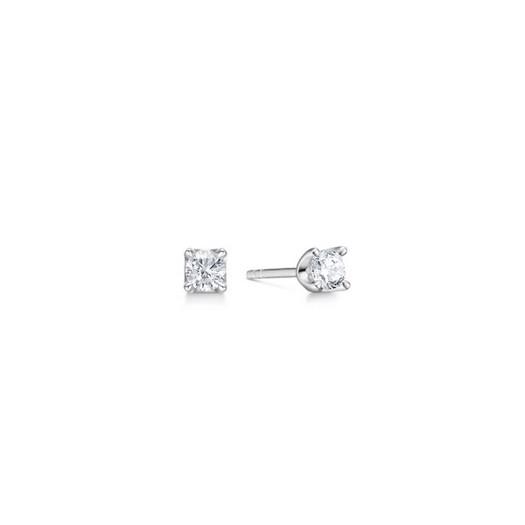 CROWN Øreringe I 14 kt. Hvidguld med diamanter fra 0,09 ct. - 0,50 ct.