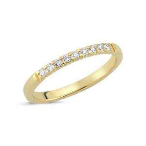 Lucca ring 14kt. guld m. 9 brillanter 0,15ct | A2428RG