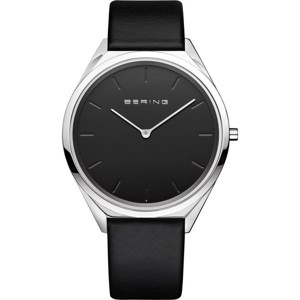 Bering - Ultra Slim Unisex med sort skive 34 mm 17039-402