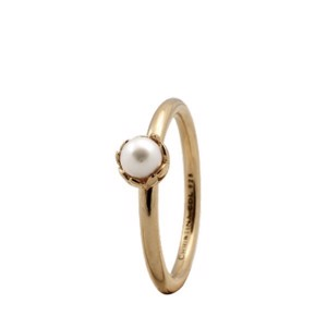 Christina Collect - Forgyldt sølv ring - PEARL