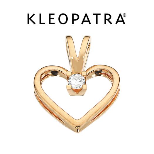 Kleopatra Hjerte Vedhæng 14 kt. Guld 0,05 ct.