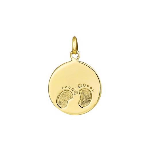 SIERSBØL - 8kt. guld vedhæng med fødder