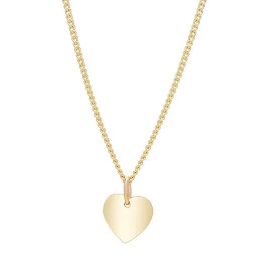 Hjerte vedhæng med i 8 kt guld - 10 mm.