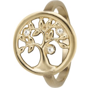 Christina Collect - Tree of life forgyldt sølv ring