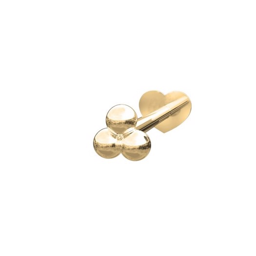 Piercing smykker - Pierce52, 14kt. guld labret piercing med 3 kugler