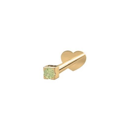 Piercing smykke - PIERCE52 Labret-piercing grøn peridot 14kt. guld