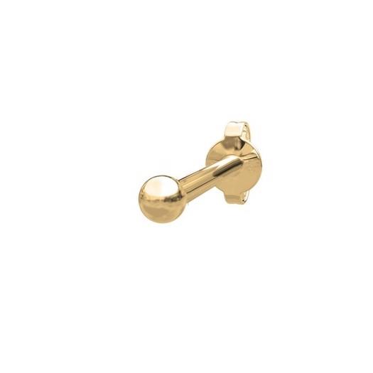 Piercing smykker - Pierce52, 14kt. guld ørestik m. 1 kugle