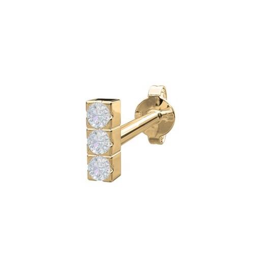 Piercing smykker - Pierce52, 14 kt. ørestik med diamanter