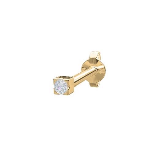 Piercing smykker - Pierce52, 14kt. guld ørestik med diamant