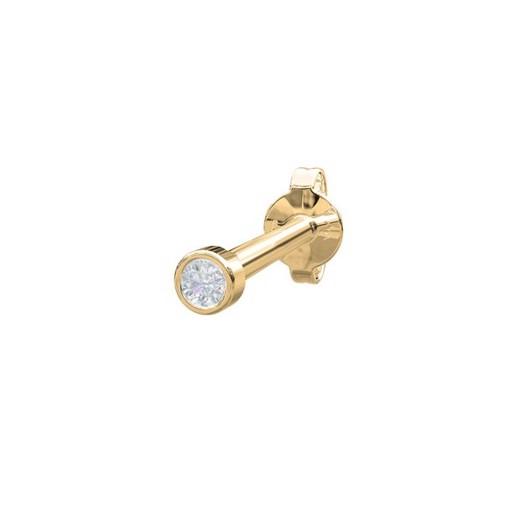 Piercing smykker - Pierce52, 14 kt. guld ørestik med diamant 0,014ct