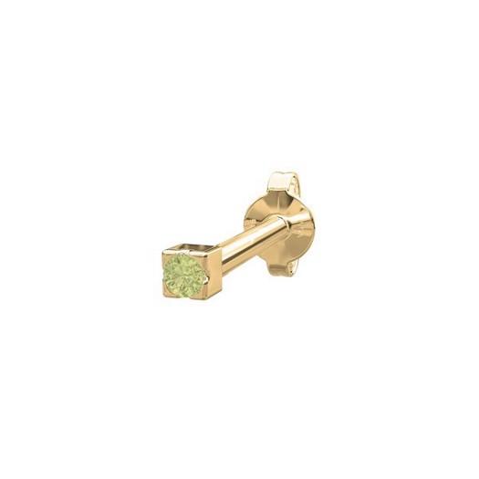Piercing smykke - PIERCE52 ørestik grøn peridot 14kt. guld