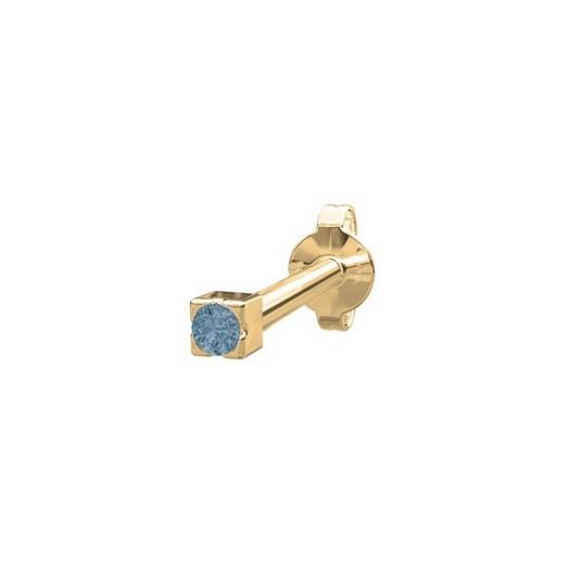Piercing smykke - PIERCE52 ørestik blå topaz 14kt. guld