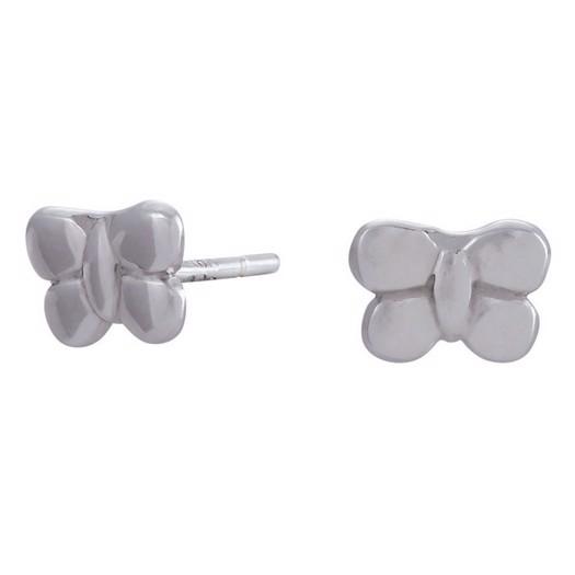 Rhd. sølv ørestikker sommerfugl 7mm**