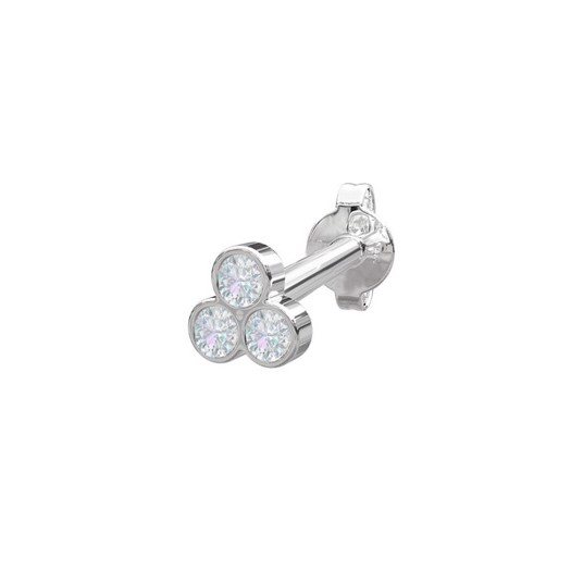 Piercing smykker - Pierce52, Sølv ørestik med zirkonia