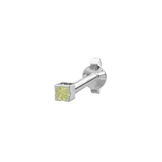 Piercing smykke - PIERCE52 ørestik grøn peridot sølv