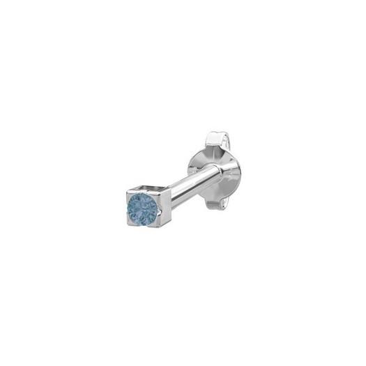 Piercing smykke - PIERCE52 ørestik blå topaz sølv