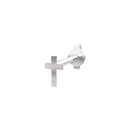 Piercing smykke - PIERCE52 ørestik kors sølv