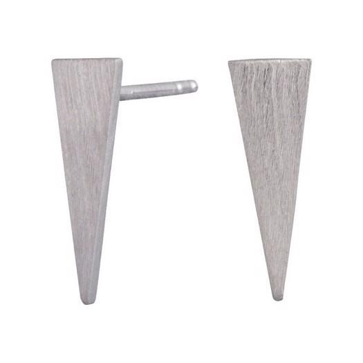 Nordahl smykker - sølv trekantet ørestikker**