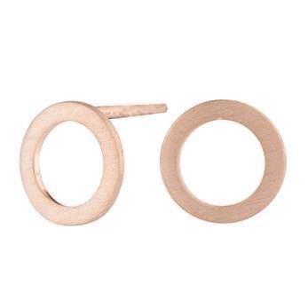 Nordahl smykker - Forgyldt sølv runde øreringe - 13 mm.