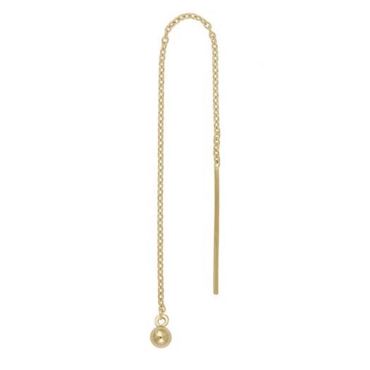 Piercing smykker - Pierce52, guld ørekæde med kugle