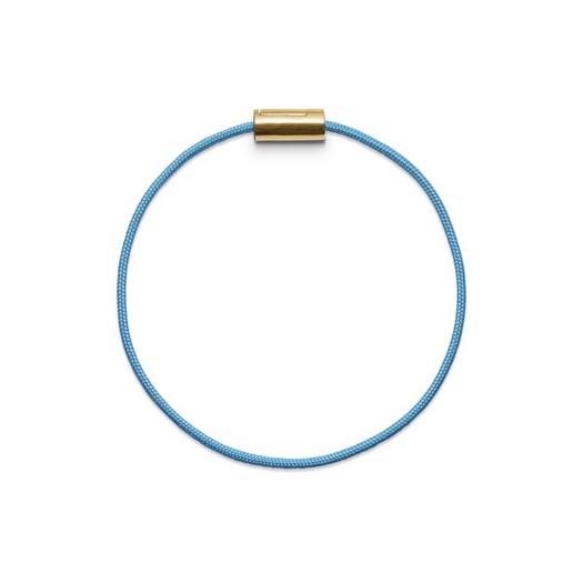 Black Sun Basisarmbånd i turkis nylonsnor og m. 14 kt. guldlås