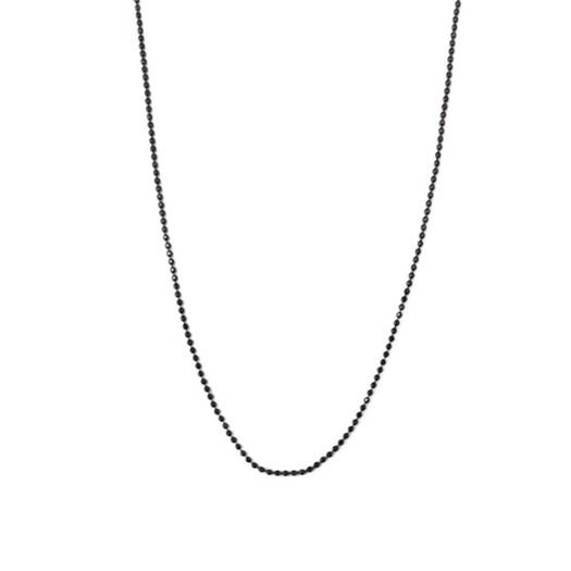 BNH - kugle halskæde i sølv - 45 cm**