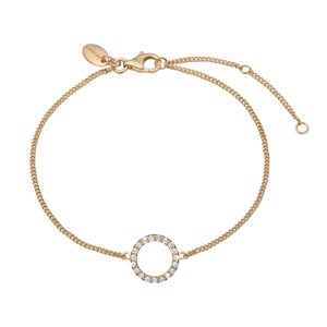 Forgyldt armbånd - SPARKLING CIRCLE - Christina Jewelry and Watches