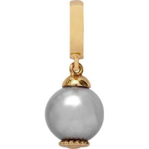 Christina Collect forgyldt charms - Grey pearl dream