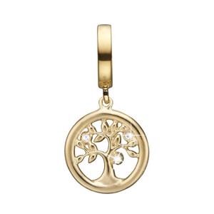 Christina Collect - TREE OF LIFE forgyldt charm til sølvarmbånd