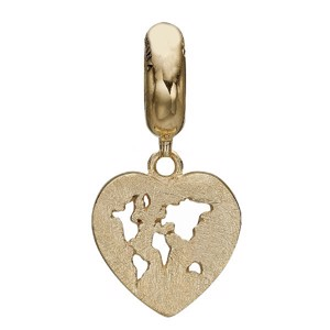 Christina Collect - WORLD HEART forgyldt charm til sølvarmb.
