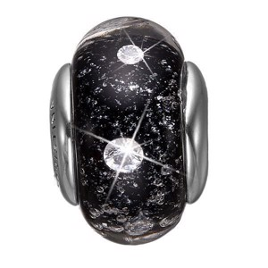 Christina Collect - Sølv charm - Black Topaz Globe