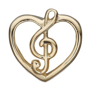 Christina Collect - MUSIC LOVE forgyldt charm