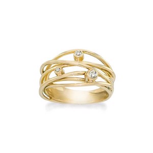 Rabinovich Sparkling Dream forgyldt ring  - 70320325