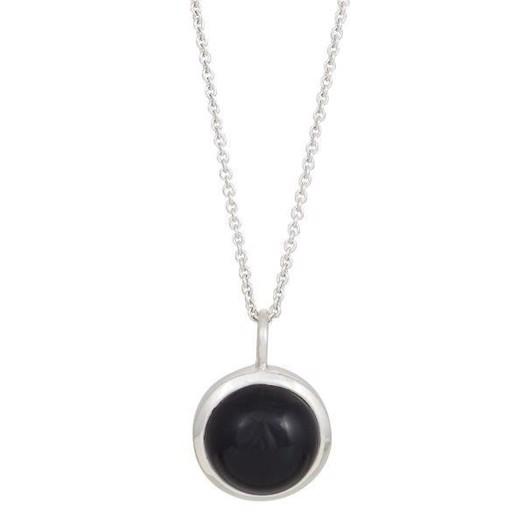 Nordahl smykker - STOR SWEETS Sølv kæde med sort onyx