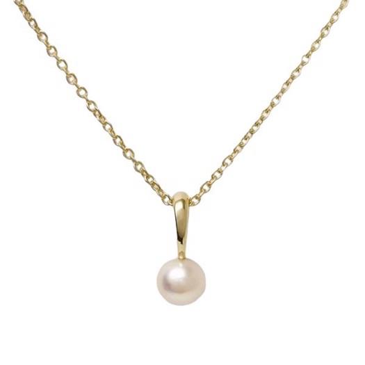 Guld og sølv design - Guld vedhæng med ferskvand perle 8kt