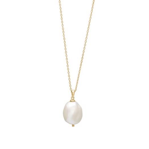 Nordahl smykker - BAROQUE52 forgyldt sølvkæde med perle