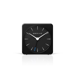 Bering alarmclock i mat sort 66mm