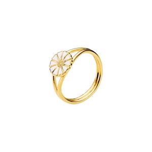 Lund Copenhagen Marguerit ring - 9 mm.forgyldt sølv