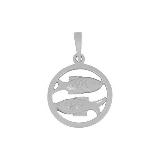 Stjernetegn i sølv - 2 størrelser - FISK