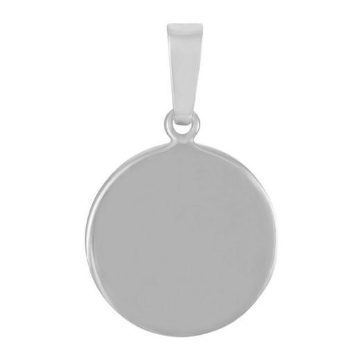 Rhodineret sølv vedhæng i 13-16-20 mm rund plade fra Nordahl