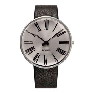 Arne Jacobsen ur LIMITED EDITION - Roman med sunray skrive -  Ø 40 mm